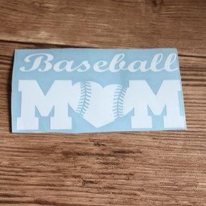 Baseball mom auto decal